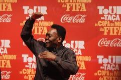 Der größte Fußballspieler Pelé der Welt stockfotografie