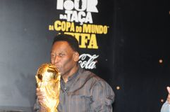 Der größte Fußballspieler Pelé der Welt stockbilder