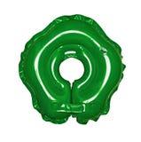 Der grüne Kreis für Schwimmen der Schätzchen stockfotografie