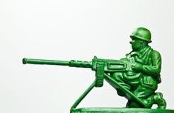 Der grüne Spielzeugsoldat Stockbild