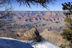 Der Grand Canyon im Winter Stockfoto