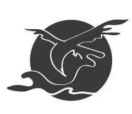 Der graue Adler stock abbildung