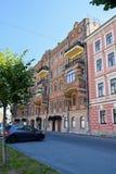 Der Griboyedov-Kanaldamm in StPetersburg Lizenzfreies Stockfoto