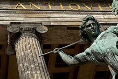 Der griechische Held Stockbild