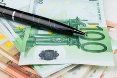 Der Griff ist auf dem Euro Lizenzfreies Stockfoto