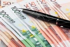 Der Griff ist auf dem Euro Stockfotos