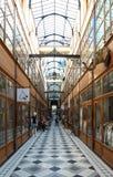 Der großartige Cerf-Durchgang ist eine der größten Laubenstraßen in Paris Lizenzfreie Stockbilder