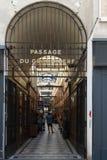 Der großartige Cerf-Durchgang ist eine der größten Laubenstraßen in Paris Lizenzfreie Stockfotografie