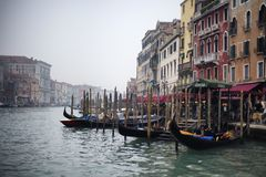 Der großartige Kanal in Venedig Stockbild