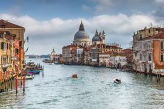 Der großartige Kanal in Venedig Lizenzfreie Stockfotos