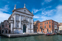 Der großartige Kanal in Venedig, Italien Lizenzfreie Stockfotografie
