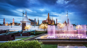 Der großartige Palast u. Emerald Buddha Temple, Bangkok, Thailand Stockfotografie