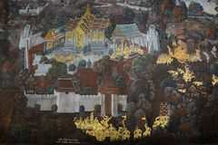 Der großartige Palast und der Tempel von Emerald Buddha Lizenzfreie Stockbilder