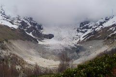 Der große Adishi-Gletscher Stockfotografie