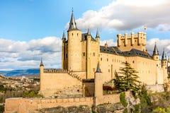 Der große Alcazar von Segovia, einer der interessantesten Plätze in Spanien Lizenzfreie Stockbilder