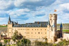 Der große Alcazar von Segovia, einer der interessantesten Plätze in Spanien Lizenzfreie Stockfotografie