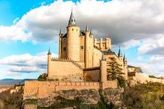 Der große Alcazar von Segovia, einer der interessantesten Plätze in Spanien Stockbild