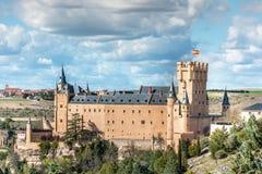 Der große Alcazar von Segovia, einer der interessantesten Plätze in Spanien Stockbilder