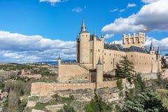 Der große Alcazar von Segovia, einer der interessantesten Plätze in Spanien Lizenzfreies Stockfoto