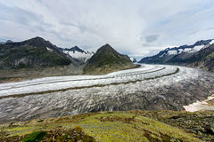 Der große Aletsch-Gletscher Lizenzfreies Stockbild
