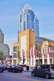 Der große amerikanische Turm am Königin-Stadtplatz in Cincinnati Stockbild