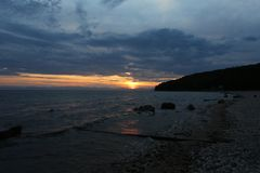 Der große Baikalsee, Russland Stockfotografie