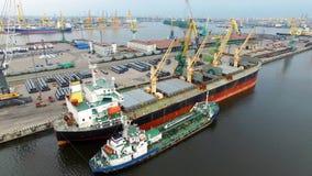 Der große Hafen St Petersburg, Vogelperspektive Stockbild