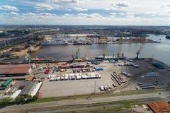 Der große Hafen St Petersburg, Vogelperspektive Stockfoto
