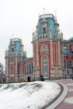 Der große Palast Architektur von Tsaritsyno Park, Moskau, Russland Tsaritsyno-Park in Moskau Lizenzfreies Stockbild