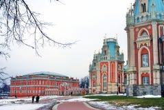 Der große Palast Architektur von Tsaritsyno Park, Moskau, Russland Tsaritsyno-Park in Moskau Lizenzfreie Stockfotografie