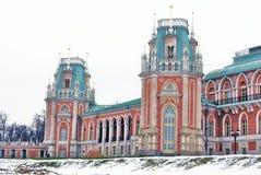Der große Palast Architektur von Tsaritsyno Park, Moskau, Russland Tsaritsyno-Park in Moskau Lizenzfreie Stockbilder