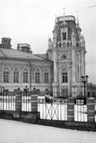 Der große Palast Architektur von Tsaritsyno Park, Moskau, Russland Tsaritsyno-Park in Moskau Schwarzweiss-Foto Pekings, China Lizenzfreies Stockbild