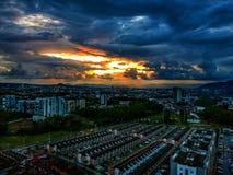 Der große Sonnenuntergang in diesem Paradies lizenzfreies stockfoto