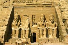 Der große Tempel bei Abu Simbel Lizenzfreie Stockfotografie