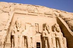 Der große Tempel von Abu Simbel Stockfotografie