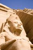 Der große Tempel von Abu Simbel Stockbild