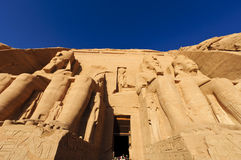 Der große Tempel von Abu Simbel (Nubia, Ägypten) Stockbild
