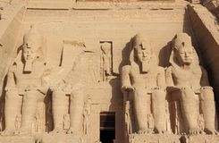 Der große Tempel von Ramesses II Abu Simbel, Ägypten Lizenzfreies Stockfoto