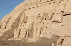 Der große Tempel von Ramesses II Abu Simbel, Ägypten Lizenzfreies Stockbild
