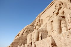 Der große Tempel von Ramesses II Abu Simbel, Ägypten Lizenzfreie Stockfotografie