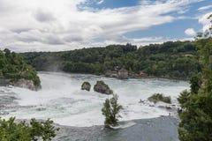Der große Wasserfall auf dem Rhein Lizenzfreie Stockfotografie