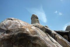 Der großväterliche Felsen in Samui-Insel in Thailand Stockfotos