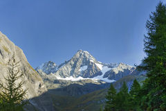 Der Grossglockner-Berg gesehen vom Süden Stockbild