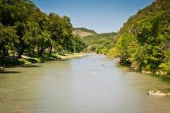 Der Guadeloupe-Fluss Texas Stockbild
