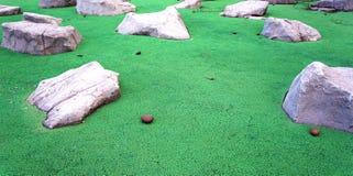Der Gummiboden mit gefälschten Steinen Lizenzfreies Stockbild