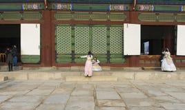 Der Gyeongbokgungs-Palast in Seoul lizenzfreie stockfotografie