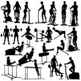 In der Gymnastik Stockbild