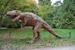 Der hölzerne Dinosaurier Stockbild