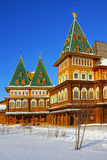Der hölzerne Palast des Zars Alexei Mikhailovich in Kolomenskoye PA Stockfoto