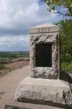Der Hügel über dem Schlachtfeld von Gettysburg Stockfotografie